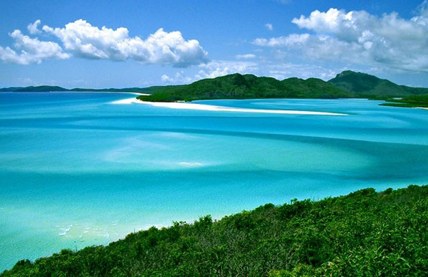 The Whitsundays are a group of tropical islands located just off the coast of Queensland, Australia